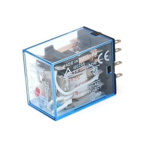 Relais de puissance à usage général MY2NJ AC Bobine 12V Indicateur LED Terminal