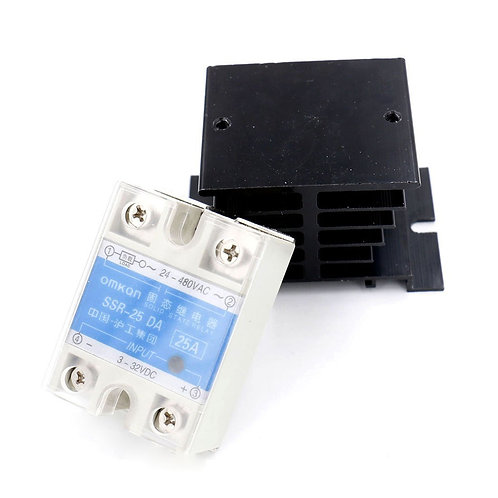 SSR-25DA Contrôle de la température CA 24V-480V 25A Sortie relais statique + dis