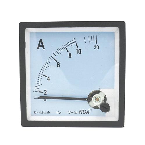 Ampèremètre CP-96 AC 0 - 10A Classe 1.5 Précision Analogique Panneau Ampèremètre
