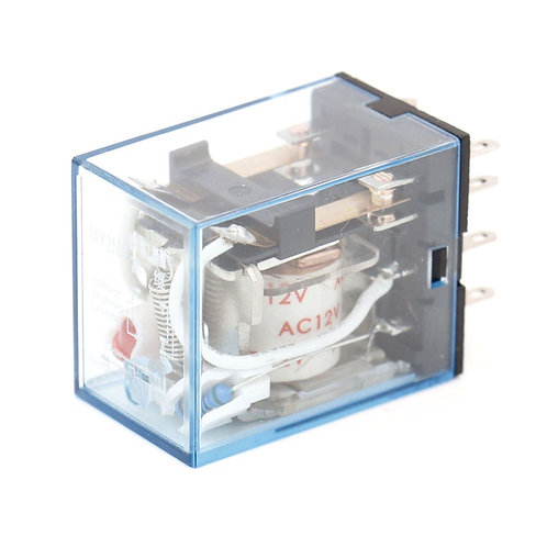 General Purpose Power Relay MY2NJ AC 12V Coil LED Indicator 8 pin terminal