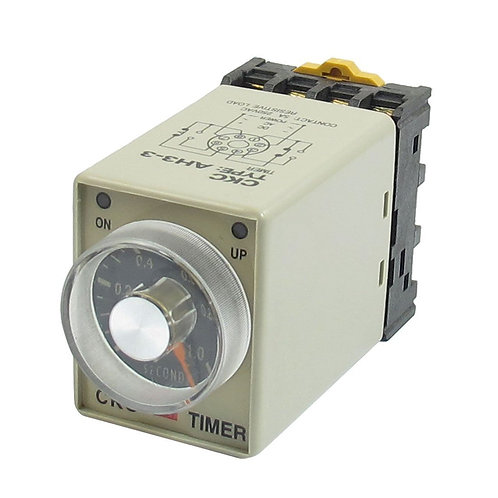 Relais temporisé DPDT AH3-3 DC 12V 0-1 secondes Mise sous tension avec prise