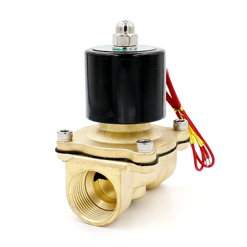 Baomain 1 inch DC 12V Brass Electric Solenoid Valve Water Air Fuels NC Valve