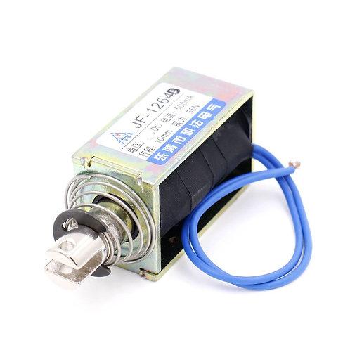 Baomain Solenoid Electromagnet JF-1264B Push Pull Type Open Frame 10mm 55N DC12V