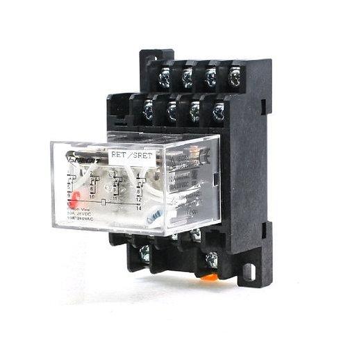 Bobina AC220V 3PDT 11P Relé de potencia de uso general LY4NJ 5A 250VAC / 28VDC w