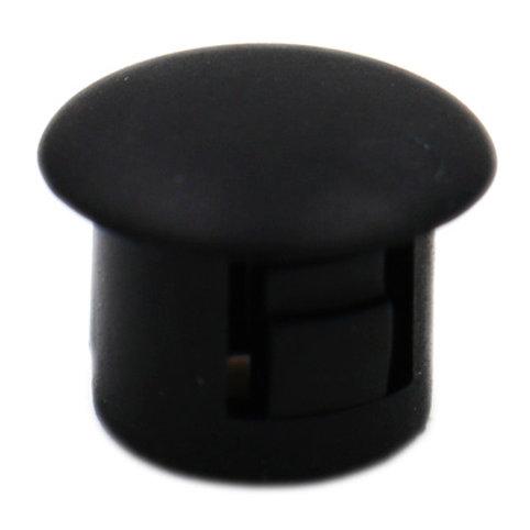 """Baomain Plastic Locking Hole Plugs Panel Hole Diameter 0.3"""" (8mm) Black 100 Pack"""