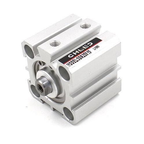 Heschen Compact Thin Air Cylinder SDA 25X15 25mm Bore 15mm Stroke M5 port