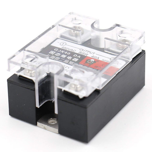 heschen Single Phase AC/DC Solid State Relay ssr-40da 3–32 VDC/480VAC 40 A 50–60