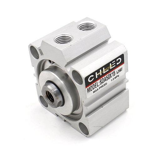 Cilindro de aire fino compacto Heschen SDA 50x15 Diámetro de 50 mm diámetro inte