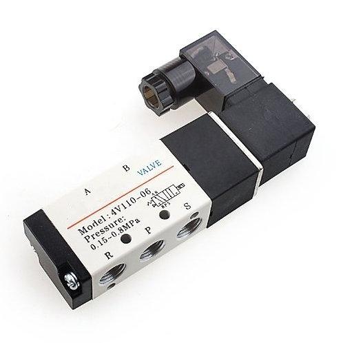 Heschen Pneumatisches Magnetventil 24VDC 5-fach 2-polig BSPT 1/8