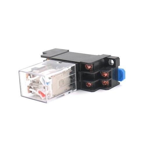 JQX-13F AC 12V Coil 8 pin terminal with DIN Rail PTF08A Socket Base