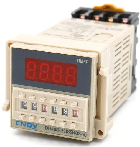 relais numérique de temporisation DH48S-S LCD affichage AC 220V 0.01S-99H 8 broc
