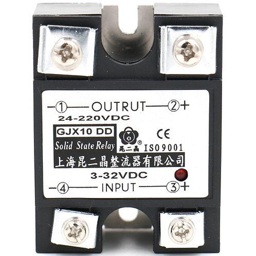 SSR-10DD 10A Signalphase Solid State Relais DC 3-32 V DC 24-220 V + Kühlkörper