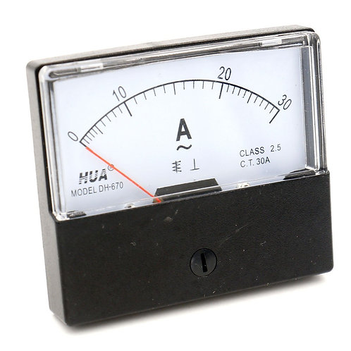 DH-670 AC 0-30A Rectangular Ampere Needle Panel Medidor Gauge Amperímetro