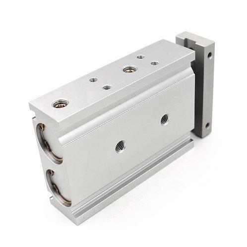 Cilindro pneumatico in alluminio compatto Heschen CXSM 25-40 Asta guida doppia a