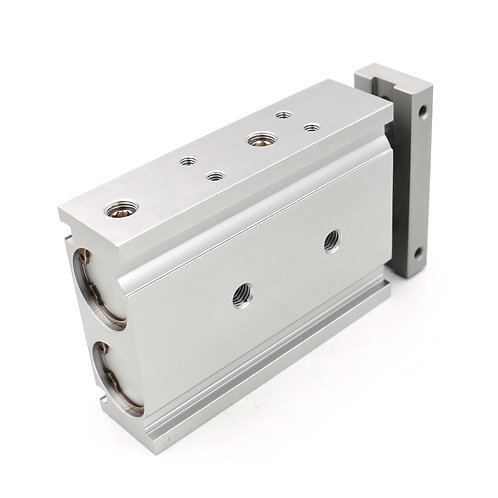 Cilindro de aire de aluminio compacto Heschen CXSM 25-40 Guía de varilla de dobl