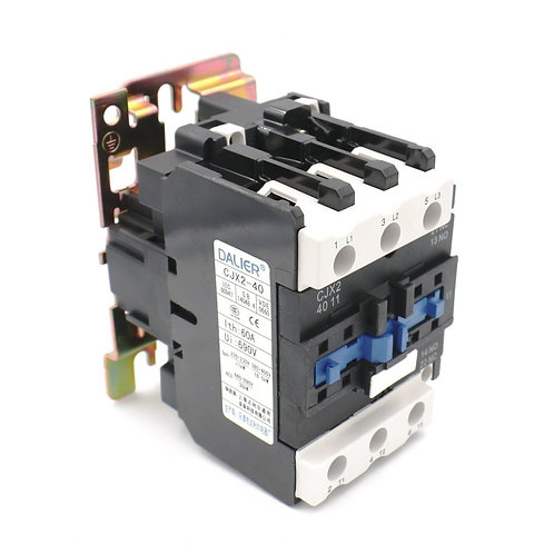 Contacteur CA Heschen CJX2-4011 380V 50 / 60HZ 40Amp 3 Phase 3-Pole NO NC