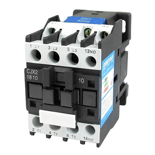 AC Contactor CJX2-1810 220V 50/60Hz 660V 32 Amp 3 Phase 3-Pole NO DIN rail
