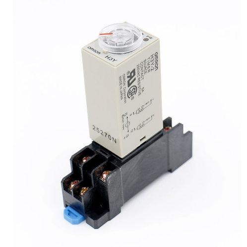 CA 220V H3Y-2 relais temporisé minuterie à semi-conducteurs 0-60S DPDT w prise