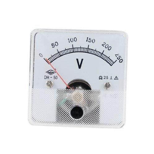 Heschen Voltmeter DH-50 Square Shaped Voltage Panel Meter DC 0-250V