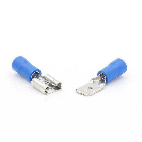 desconexiones rápidas Spade Wire Connector Terminal de crimpado eléctrico 100 Pa