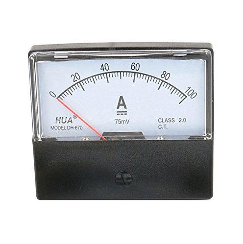 Heschen DC 100a Analog Panel Ampere Medidor de corriente Amperímetro Medidor DH-
