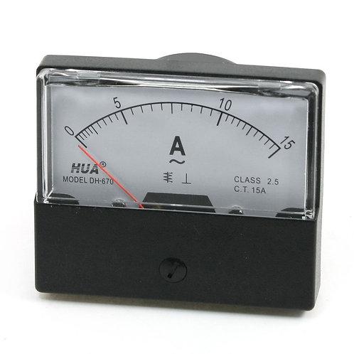 Amperemetro del calibro del misuratore del pannello dell'ago di ampère rettangol