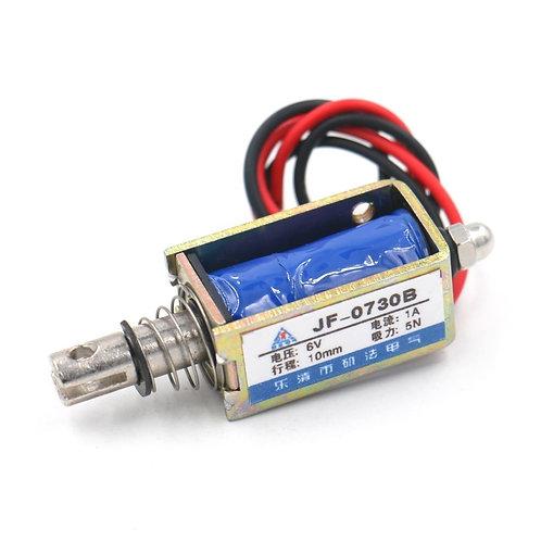 Électro-aimant solénoïde Heschen JF-0730B DC 6V 1A 5N / 10mm Pull Push Type