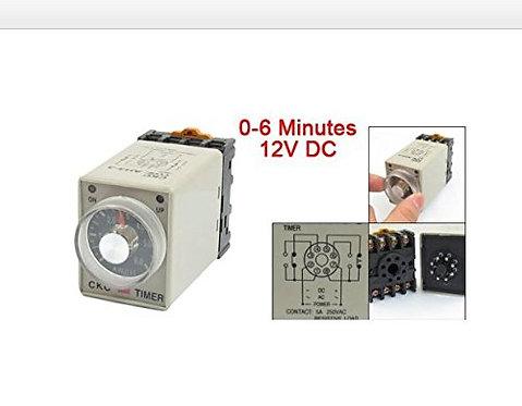 Heschen 0-6 minuti 8 pin di plastica temporizzatore ritardato temporizzatore DC