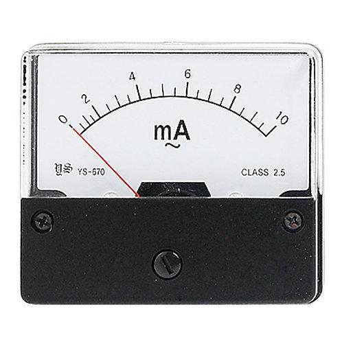 Heschen Amperemeter DH-670 AC 0-10mA Rechteck Klasse 2.5
