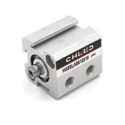 Heschen Compact Thin Air Cylinder SDA 12X10 12mm Bore 10mm Stroke M5 port