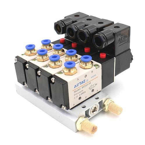 Heschen 2 Position 5 Way 4 Válvula neumática con ajuste rápido del silenciador d