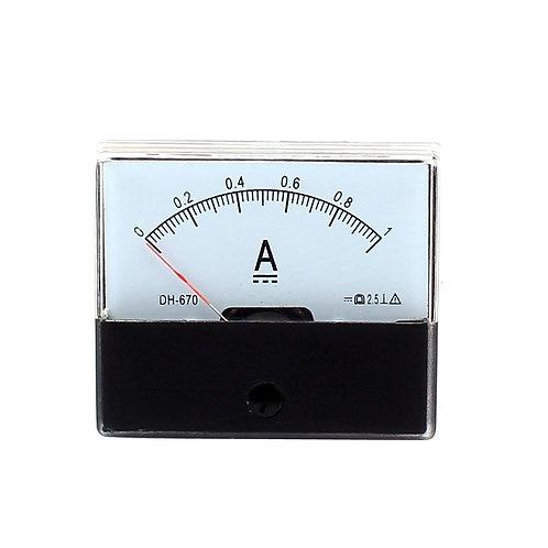 DH-670 DC 0-1A Rectangular Ampere Needle Panel Meter Gauge Amperemeter