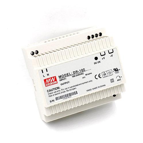 Baomain Meanwell DIN rail power supply DR 100-12 12V 100W 7.5A UL TUV
