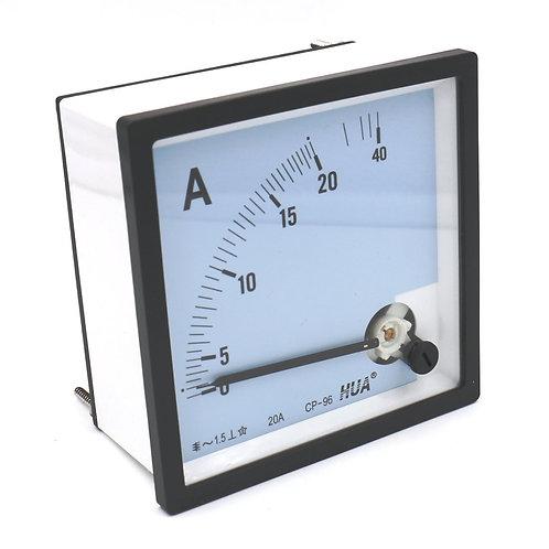 Ampèremètre CP-96 AC 0 - 20A Classe 1.5 Précision Analogique Panneau Ampèremètre