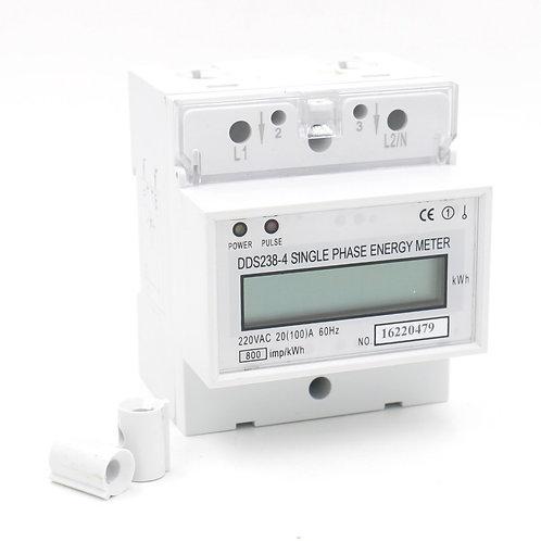 DDS238-4 20 (100) Monofásico Carril DIN Tipo Kilowatt Hora kwh Medidor 220V 60Hz