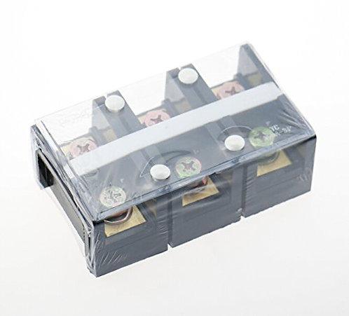 Heschen 150v 100a 3 Position Dual Row Barrier Block Screw Terminal Strip