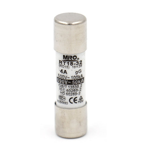 Fuse Link RT18-32 4A Cylindrical Ceramic Tube 10x38mm 500V CE TüV listed 20 Pack