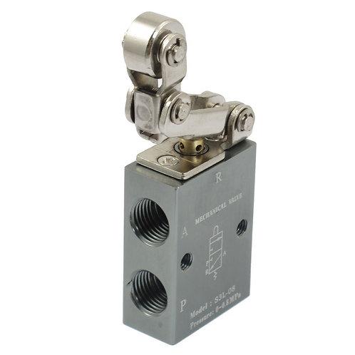 "Heschen Mechanical Valve S3L-08 1/4"" PT Thread Three Way Two Position Single"