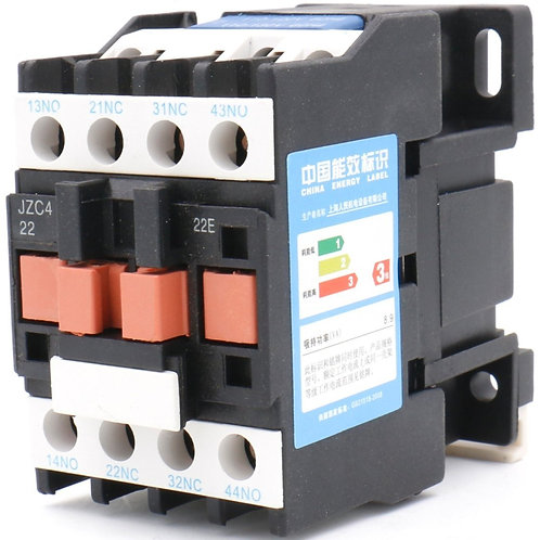 Heschen AC Contacteur JZC4-22 110-130V 50 / 60Hz Bobine 10A 3P Trois Pôles 2NO 2