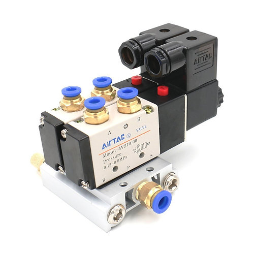 Heschen Pneumatic Solenoid Air Valve 4V210-08 2 Positions Twin DC 12V
