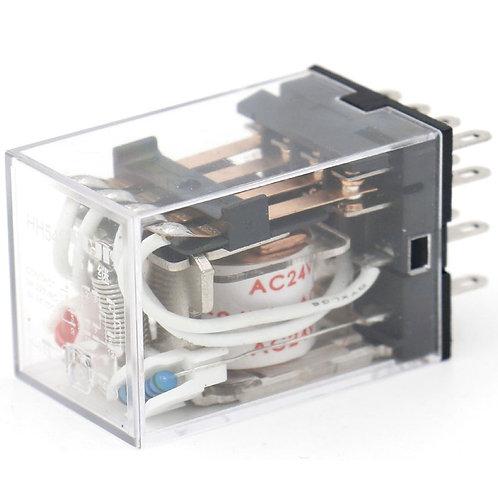 General Purpose Power Relay HH54P-L AC 24V Coil LED Indicator 14 pin terminal