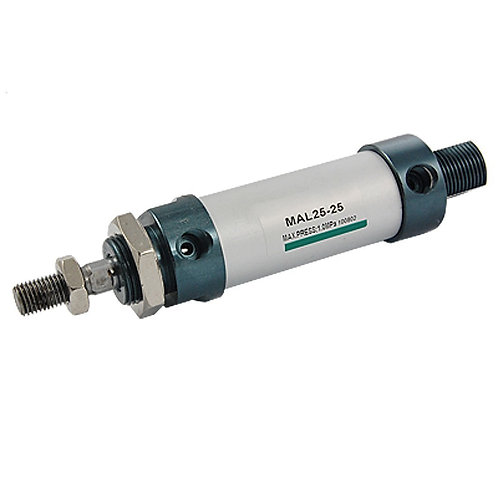 Heschen Mini Cilindro de aire MAL 25X25 Single Male Thread Rod Dual Action 25 Di