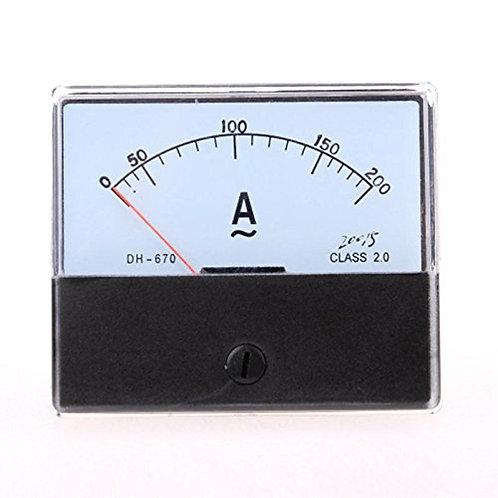 Heschen Ammeter DH-670 DC 0-200A Rectangle Class 2.0