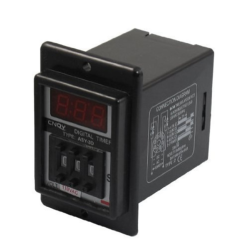 Time Delay Relay ASY-3D AC 110V Power on Delay Timer 0.1-99.9 Second 8 Pins