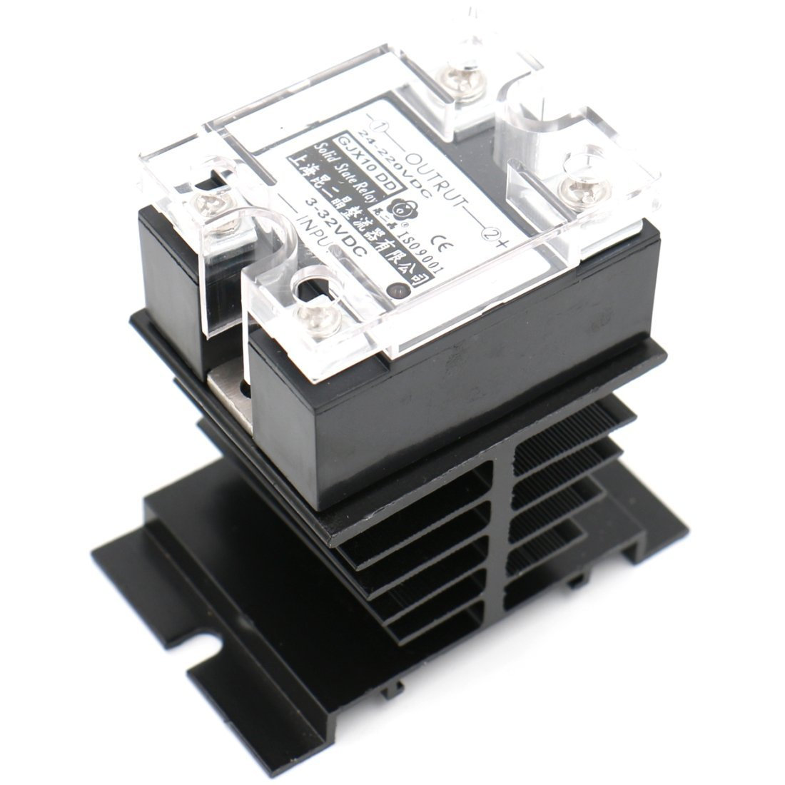 SSR-40DD 40A Signal Phase DC Solid State Relay DC 3-32V DC 24-220V + Heat  Sink | heschen