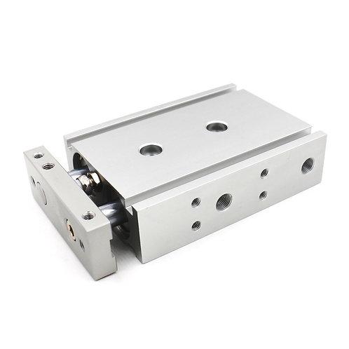Heschen Compact Aluminium Luftzylinder CXSM 25-40 Führungsstab Platte Doppelstab