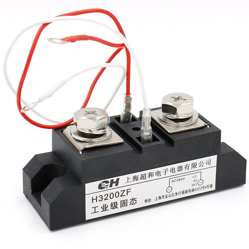 Baomain SSR Solid State Relay H3200ZF 3-32VDC to 380VAC DC to AC