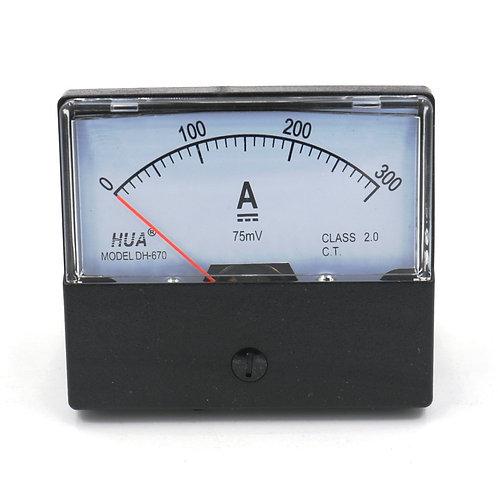 DH-670 DC 0-300A Rechteckige Ampere Nadelanzeige Meter Amperemeter