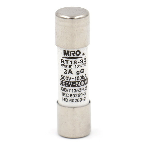 Fuse Link RT18-32 3A Tubo in ceramica cilindrico 10x38mm 500V list 20 Pack