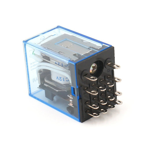 General Purpose Power Relay MY4NJ DC 12V Coil LED Indicator 14 pin terminal